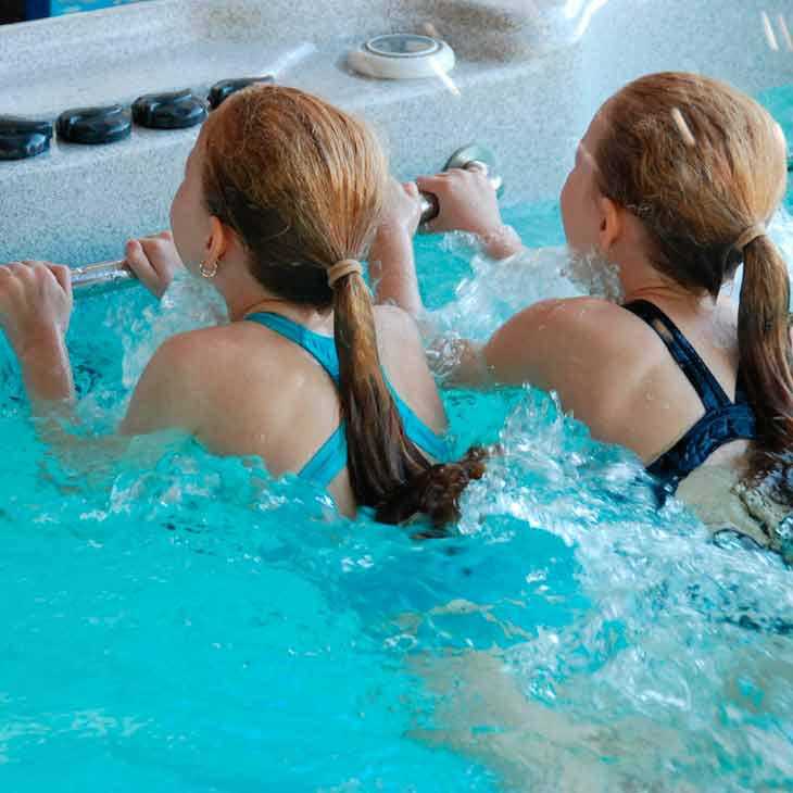 SpaChoice Children Swimming In Swim Spa