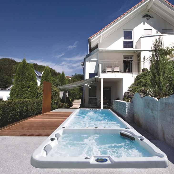 SpaChoice Beautiful Swim Spa In Deck & Concrete