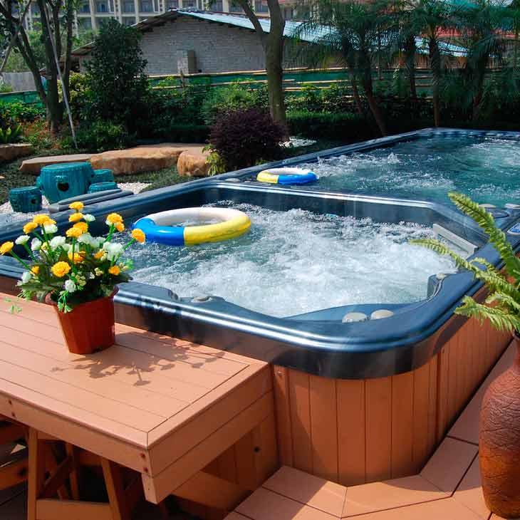 SpaChoice Beautiful Swim Spa With Pavers