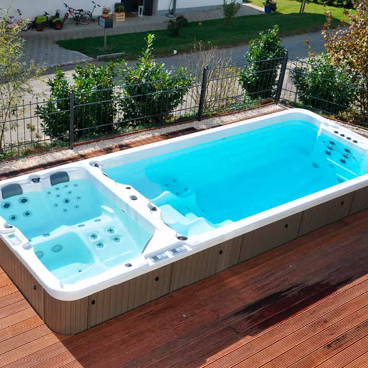 SpaChoice Beautiful Swim Spa Built Into Deck