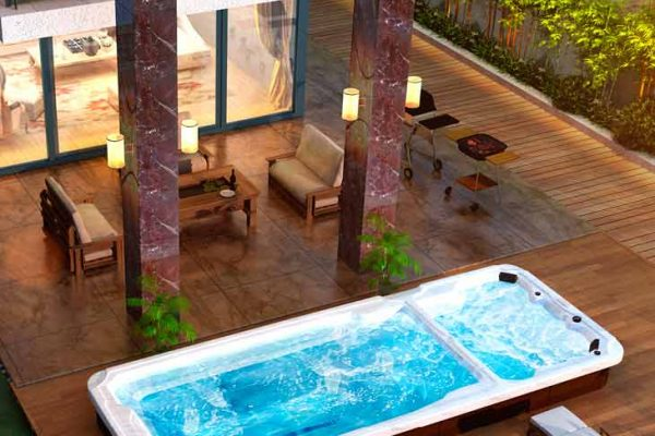 SpaChoice Swim Spa Dual Zone In Beautiful Home