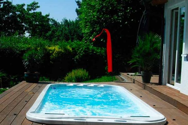 SpaChoice Swim Spa In Deck In Backyard