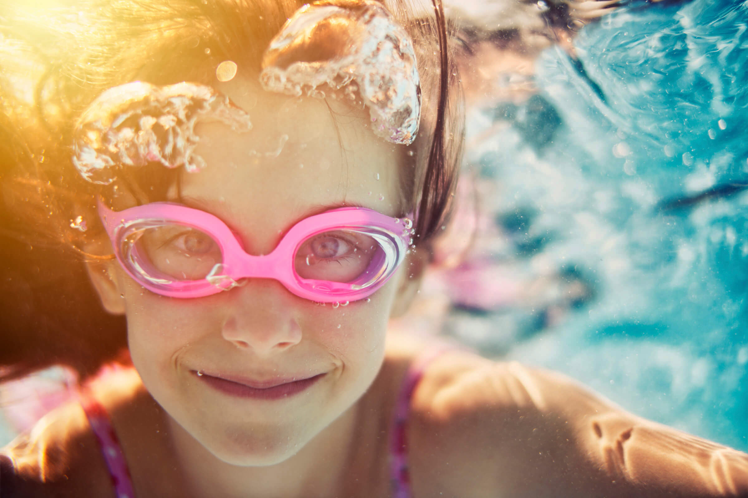 SpaChoice Swim Spa Swimmer Doing Yoga